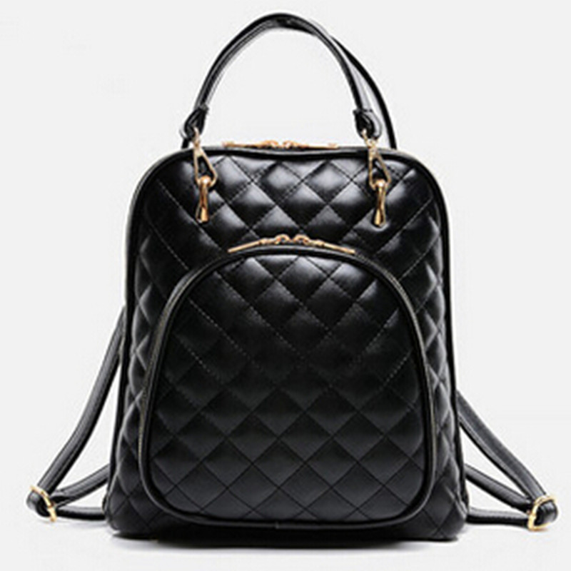 ФОТО White Women Handbag Diamond Lattice Shoulder Bag Fashion Black Bag Can Use As a Travel Bag