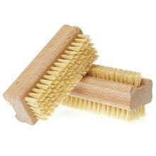 Щетка для маникюра и педикюра, деревянная двухсторонняя ручка, нейлоновая щетина, щетка для маникюра и педикюра, щетка для ванны для ногтей-35