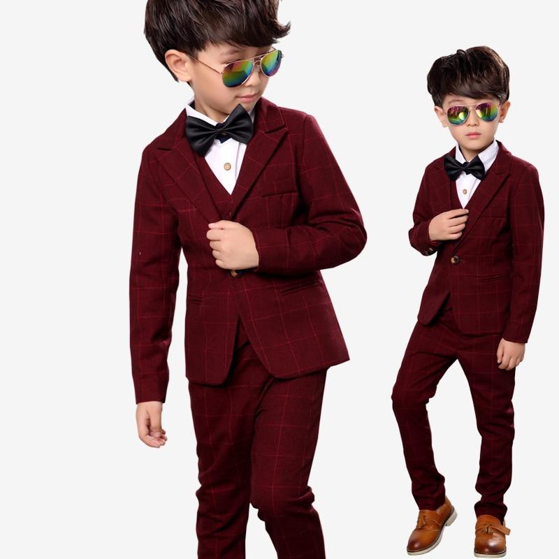 Marke Kinder Anzug Baby Jungen Schulanzüge Kinder Blazer Formelle - Kinderkleidung - Foto 2
