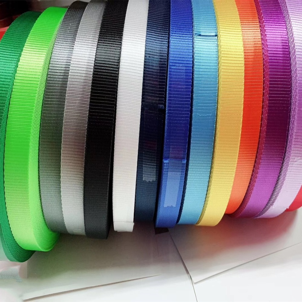 1.6cm Wide 100 Meters/lot Coarse Grain Multi Colored Nylon Webbing Braided Strap For Work Card