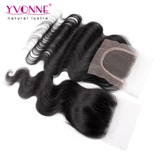 Body Wave Virgin Brazilian Hair Closure,100% Human Hair Lace Closure 4×4,Aliexpress Yvonne Hair Products,Natural Color 1B
