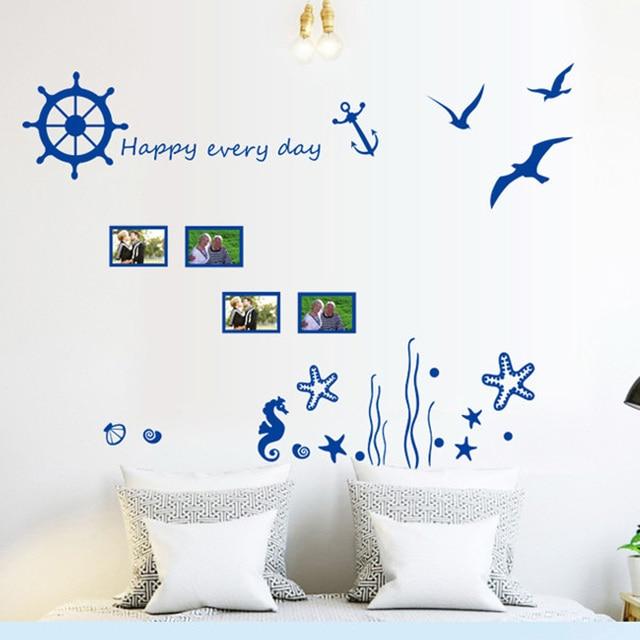 candiway blue ocean wall sticker kids room home decor nursery wall