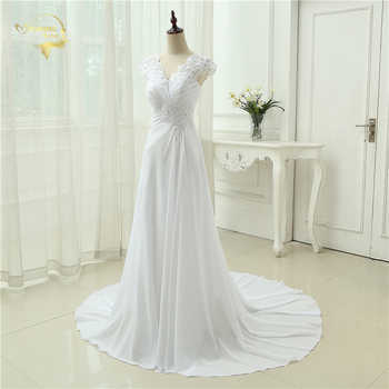2020 New arrival Wedding Dress Elegant Applique Dress Chiffon Beading Vestidos De Novia Plus Size Beach Bridal Gowns 399390UJL
