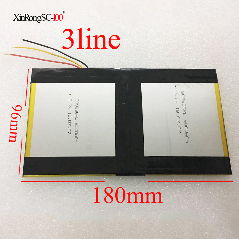 Size 96mm*180mm 3296192 3.7V 12000MAH For Teclast X98 Air 3G P98 3G Tablet PC Battery 309696*2 X98 X98 AIR P98 X98 P98HD P98