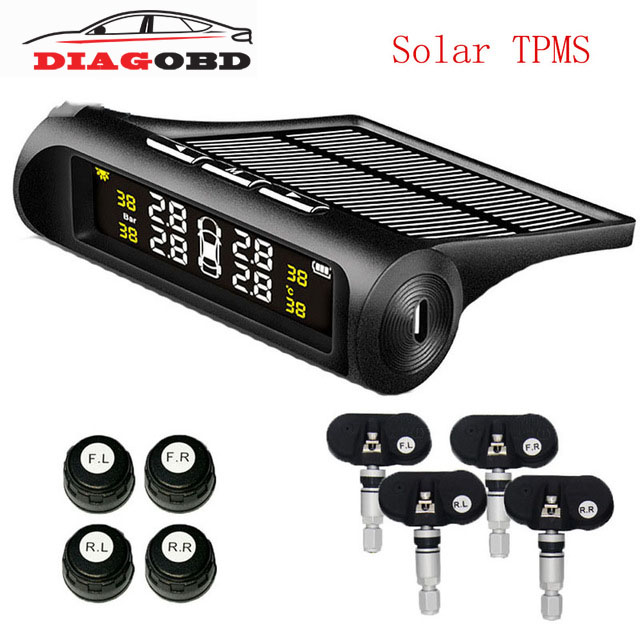Solar TPMS Car security diagnostics Tire Pressure Monitoring System TPMS Solar Energy