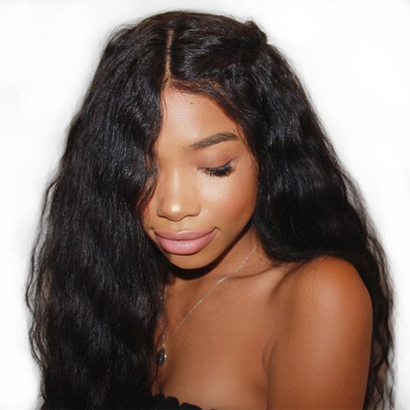 Pre Plucked Full Lace Human Hair Wigs With Baby Hair For Women 250% Black Glueless Full Lace Wigs Brazilian Body Wave Remy CARA