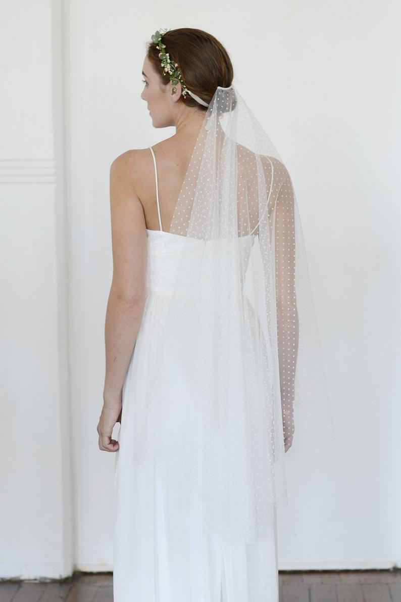 Dot Veil,  Dot Wedding Veil, Dot Bridal Veil,cathedral Length Wedding Veil