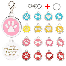 Personalized Dog Tags Engraved Cat Puppy Pet ID Name Collar Tag Pendant Pet Accessories Bone/dog accessories dog tag