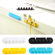 Hottest 1Pair Cable Winder Plug Holder Cable Organizer Management Desk Wire Storage Device