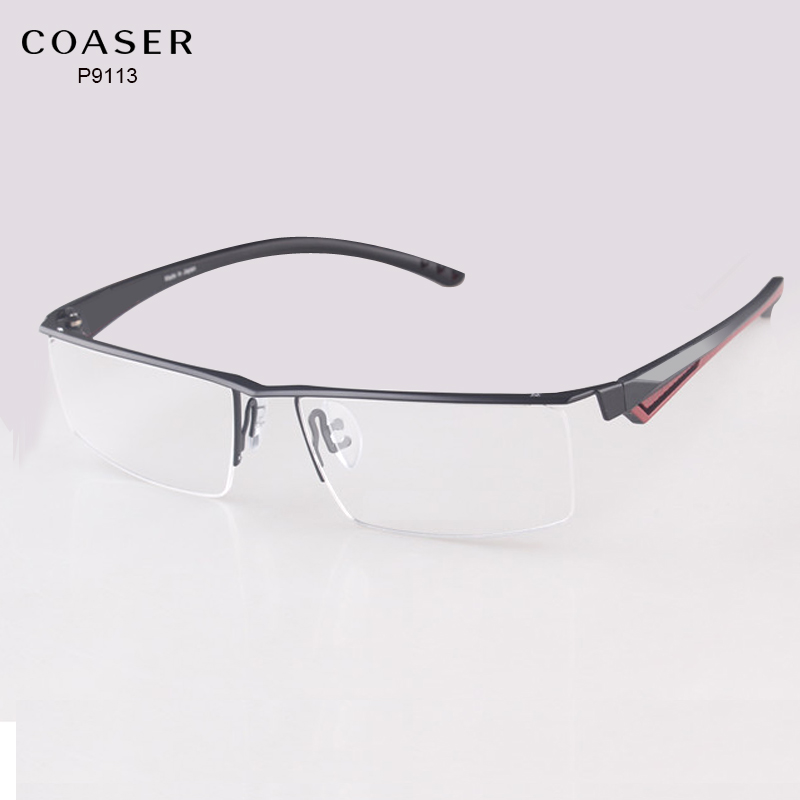 Ancho grande gafas marco hombres anteojos ordenador ajuste lectura ...