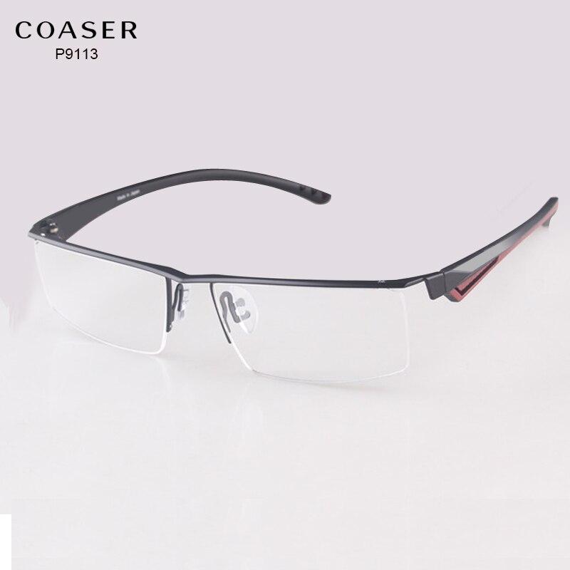 Wide Big Glasses Frame Men Eyeglasses Fit Computer Reading ...