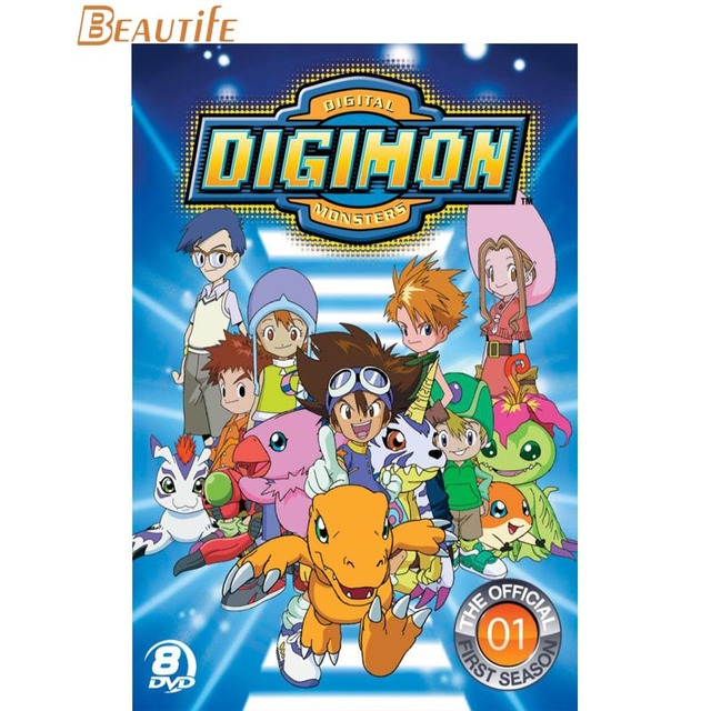 Digimon Poster Cloth Silk Poster Home Decoration Wall Art Fabric Poster  Print 30X45cm,40X60cm.