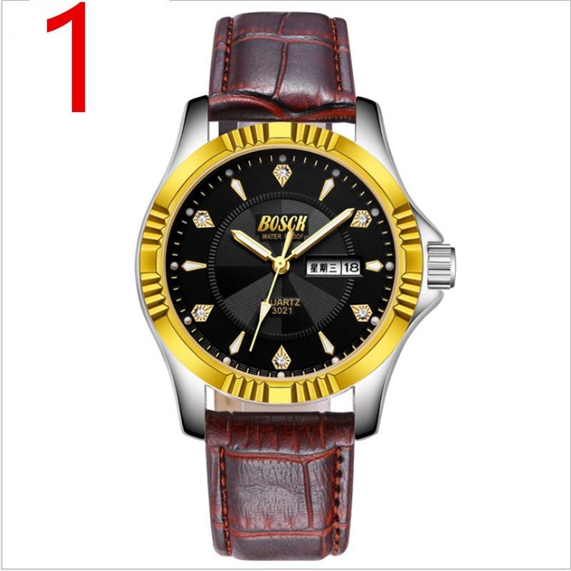 2019 nouveau compteur véritable montre pour hommes étanche automatique quartz montre ultra-mince mode non-mécanique montre pour hommes