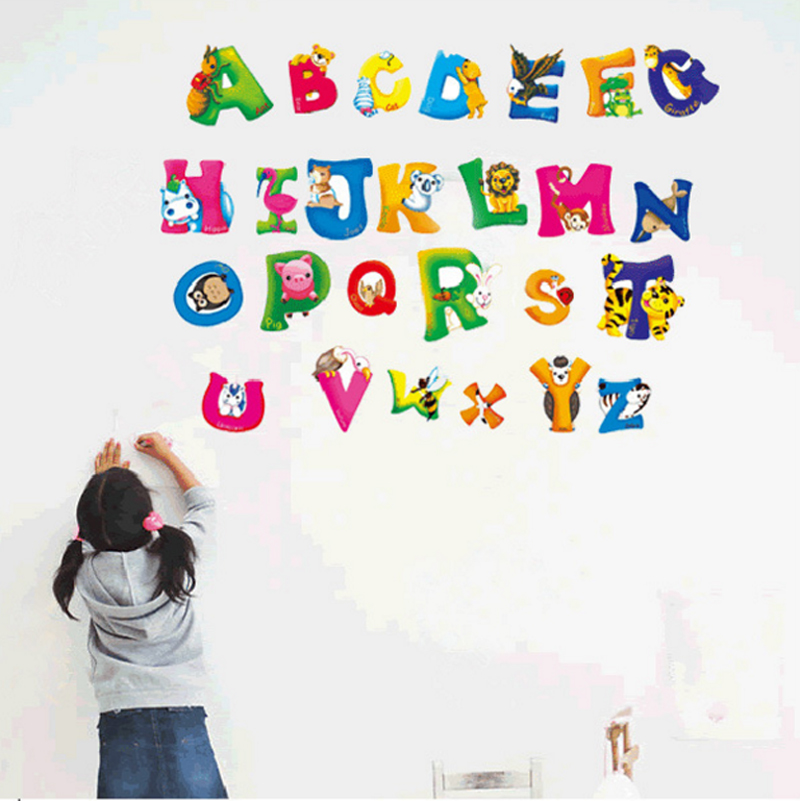 Aliexpress.com : Buy Cartoon Cute 26 English Letters Wall