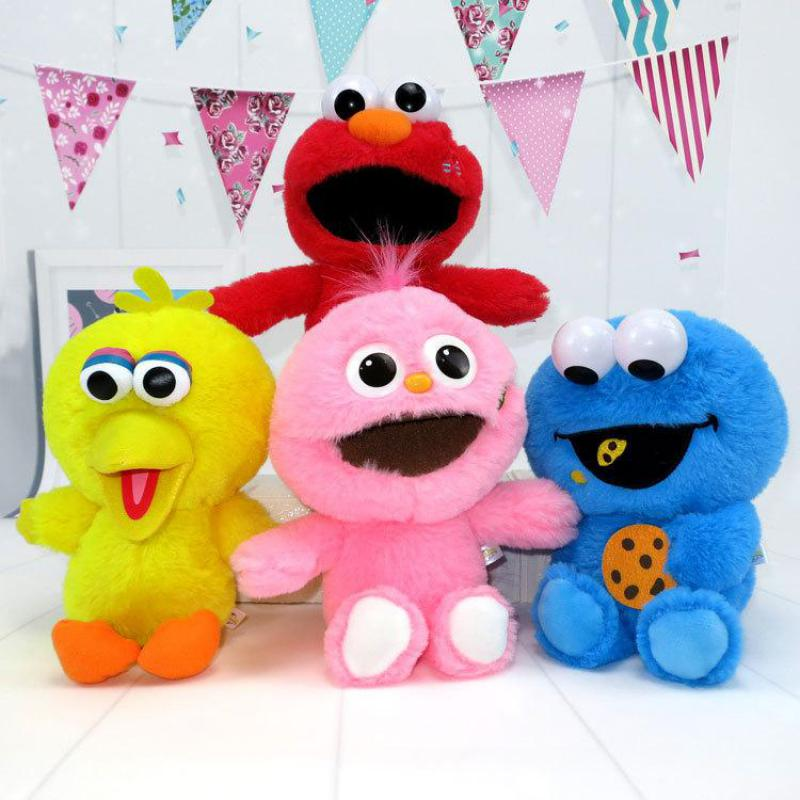 Us 9 99 30 Off Kawaii 23cm Sesame Street Elmo Big Bird Cookie Monster Moppy Stuffed Plush Toy Doll For Kids Girls Children Birthday Gifts In