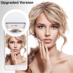 Image 5 - 2019 Selfie Ring Light USB Charge Selfie Portable Flash Led Camera Phone Photography Ring Light Enhancing Photography for iPhone