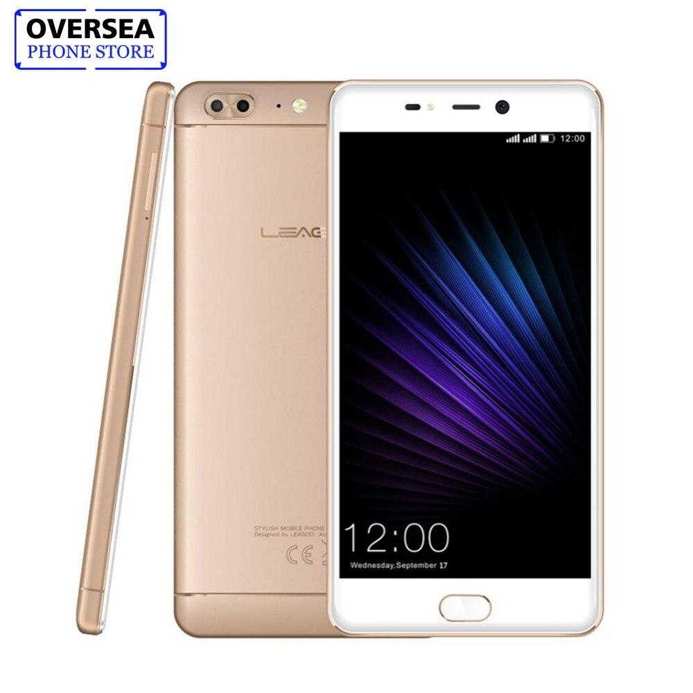 LEAGOO T5 5.5 Pouces FHD Smartphone 4 gb RAM 64 gb ROM MTK6750T Octa base Android 7.0 13MP Double Arrière cames D'empreintes Digitales 4g Mobile Téléphone