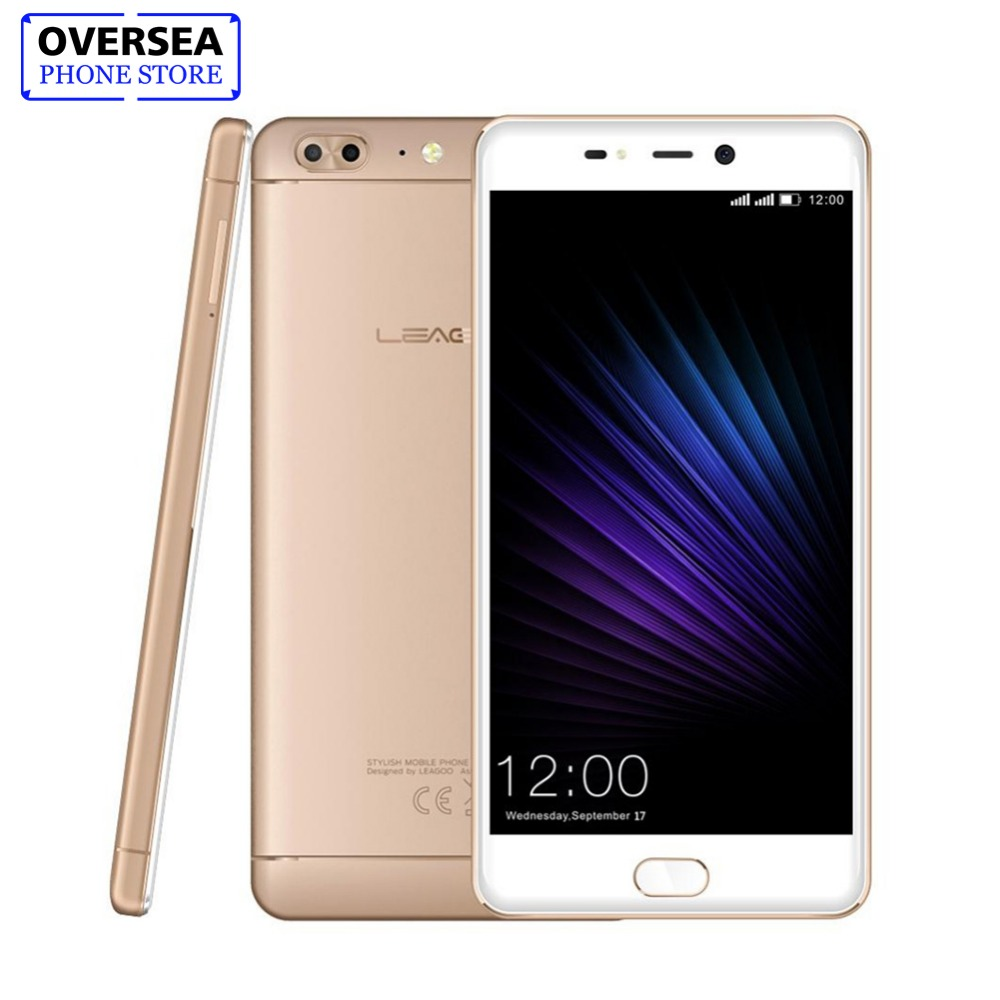 LEAGOO T5 5.5Inch FHD Smartphone 4GB RAM 64GB ROM MTK6750T Octa Core Android 7.0 13MP Dual Rear Cams Fingerprint 4G Mobile Phone