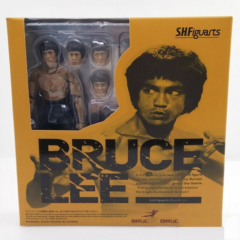 2 Type Bruce Lee Figure Variant SHF S.H.Figuarts With Nunchaku PVC Action Figures  In Box (7)