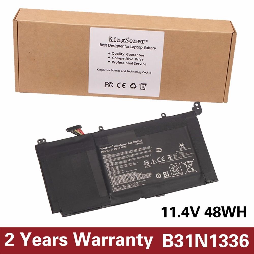 KingSener New B31N1336 Laptop Battery for ASUS VivoBook S551 S551LB S551LA R553L R553LN R553LF K551LN V551 C31-S551 11.4V 48WH sheli s551lb motherboard for asus asus k551l k551lb k551ld k551ln s551l s551lb s551ld s551ln laptop motherboard i3 4010u new