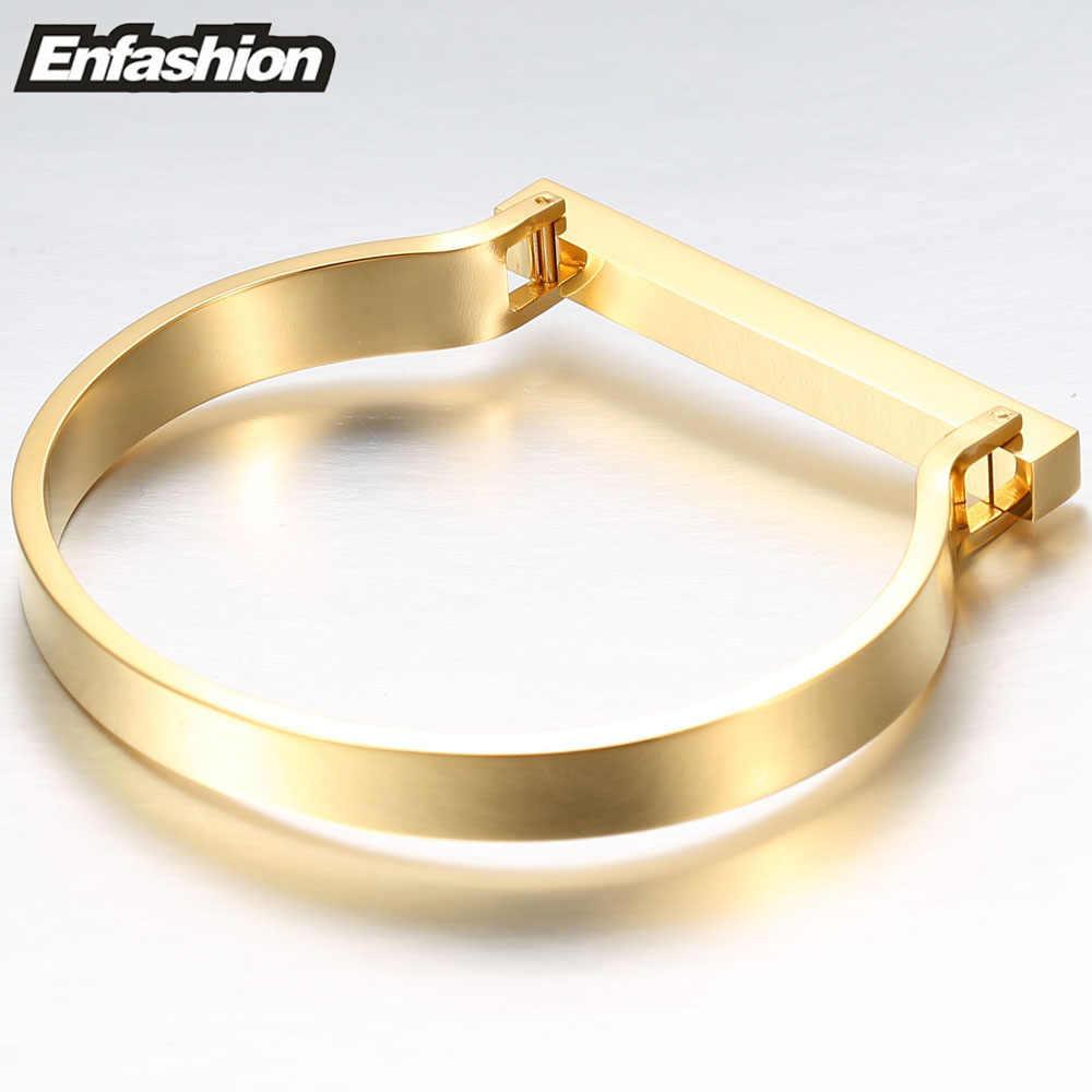 Enfashion, персонализированный, на заказ, с гравировкой, имя, плоская планка, манжета, браслет, золотой цвет, браслет, браслеты для женщин, браслеты