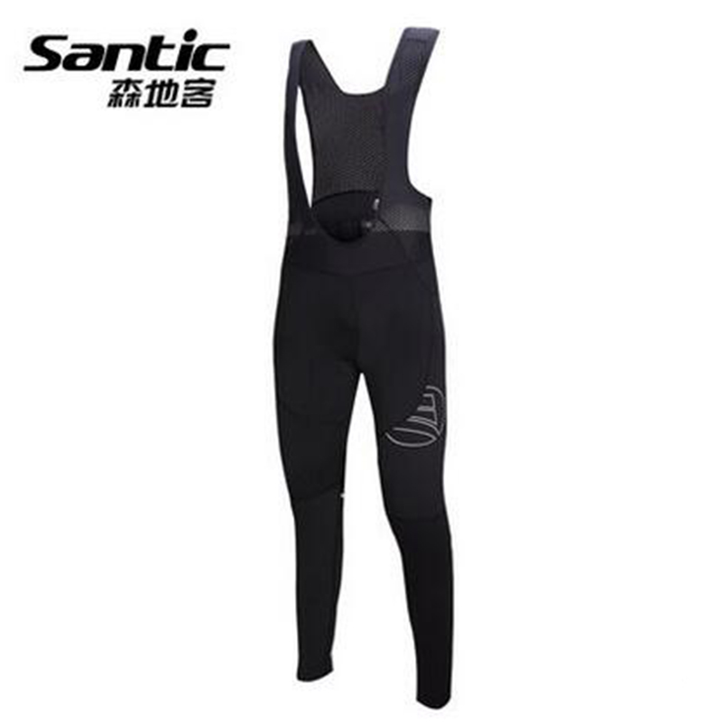 Santic Men Cycling Bib Pants Breathable Shockproof Cycling Padded Pants Bicycle Downhill MTB Jersey Pad Bib Pant SK0005 santic mtb cycling pants bicycle bike downhill pants women trainers cycling tight pants l5c05058p