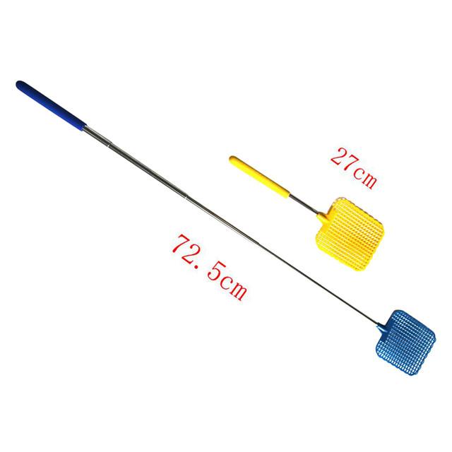Plastic Telescopic Extendable Fly Swatter Prevent Pest Mosquito Tool mosquito killer raquette moustique tapette a mouche