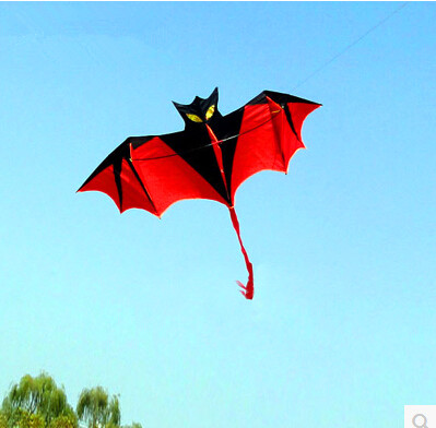 Free shipping new style bat kite 10 pcs/lot hot sell high quality with handle line children kite chinese kite sale nylon string