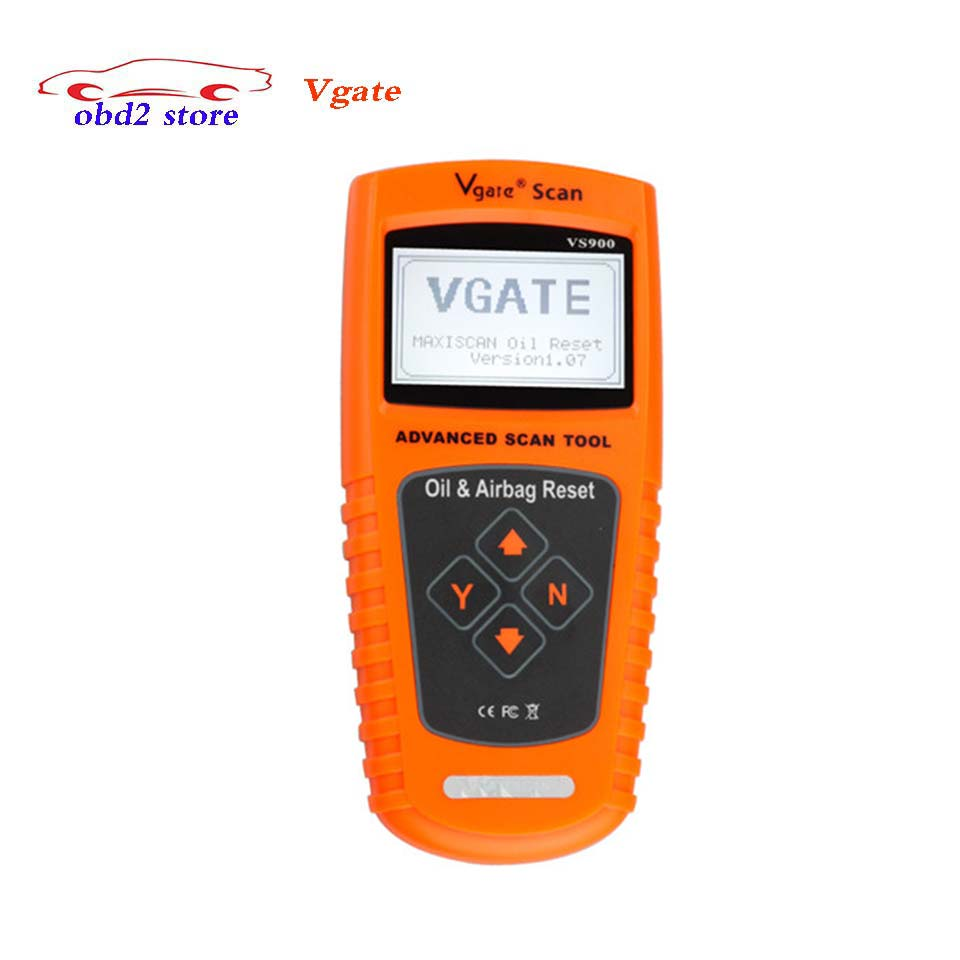 Original VGATE VS900 Car-Styling Auto Diagnostic Scanner Oil Service & Airbag Reset vs-900 Car Code Reader Diagnostic tool u480 1 5 lcd universal can bus obd2 car diagnostic code reader memo scanner