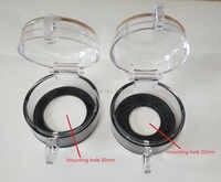 10 pçs 30mm interruptor de botão de parada de emergência capa protetora transparente poeira caixa proteção guarda cvoer 50x32mm