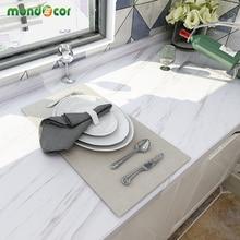 Papier peint autocollant mural en marbre 5M, papier peint auto adhésif en PVC, imperméable à leau, comptoirs de cuisine avec rénovation