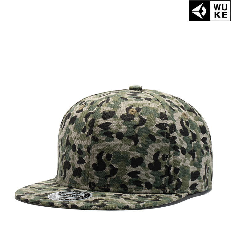 2018 Hot style disruptive pattern assorted colors simple flat top hat cotton cloth Hip Hop baseball cap Hat for men and women