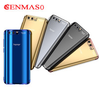 Cenmaso For Huawei Honor V9 Play Plating Cases Cover Ultra Thin Transparent Clear Case Honor 9