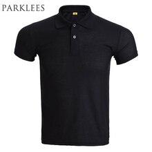 Brand Black Polo Shirt Men Polo Homme 2016 Mens Fashion Solid Color Short Sleeve Polo Shirts Breathable Polos Xxxl