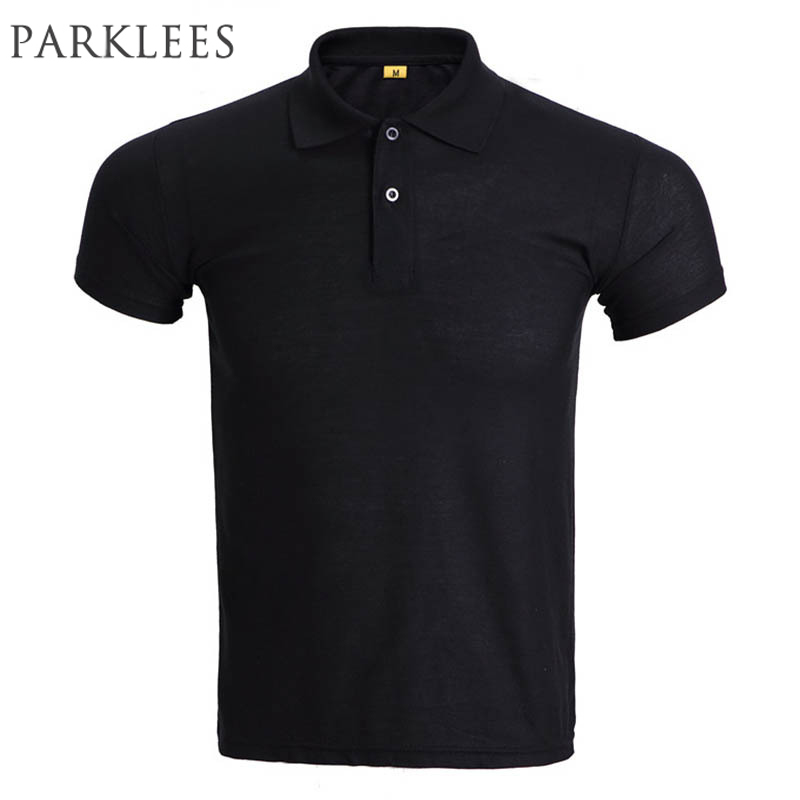 Brand Black   Polo   Shirt Men   Polo   Homme 2016 Mens Fashion Solid Color Short Sleeve   Polo   Shirts Breathable   Polos   Xxxl