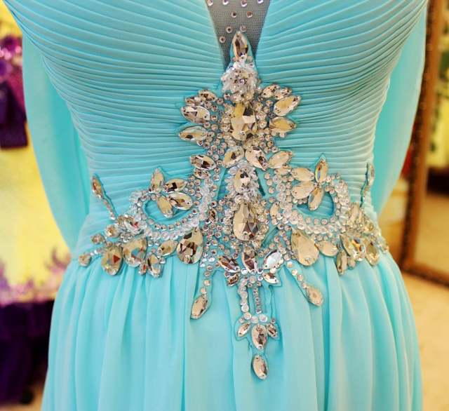 985cc4e25e free shipping 2018 luxury rhinestone crystal vestidos formal bride gown  purple chiffon yellow long Graduation bridesmaid Dresses