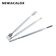 NEWACALOX 3 in 1 Repairing Opening Tool Kit Metal Spudger Pry Bar Stick for Mobi