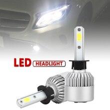 2pcs H1 S2 72W 8000LM 6000K White Light LED Auto Car Headlight High Low Beam Head Lamp for Cars Vehicles