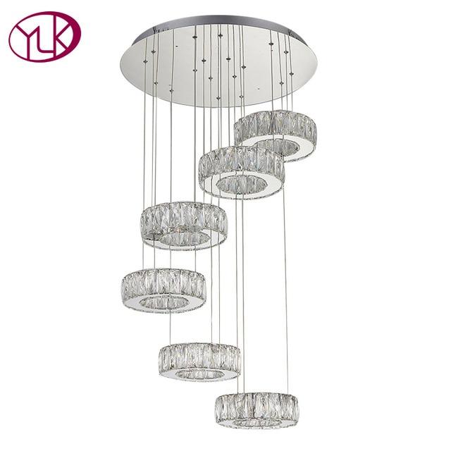 Runde Moderne Kristall LED Kronleuchter Für Wohnzimmer Dia60 ...