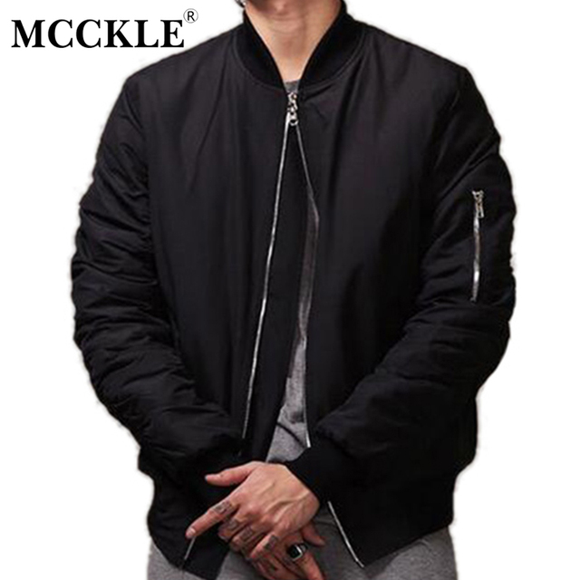 dc3b16d595 Men Black Bomber Jacket High Street Bomb Baseball Back Pocket Flight Male  Coat Autumn Varsity Letterman Mandarin Collar Jackets