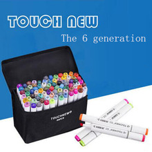 gift two marks two headed alcohol oily art supplies markers pen students manga design 30