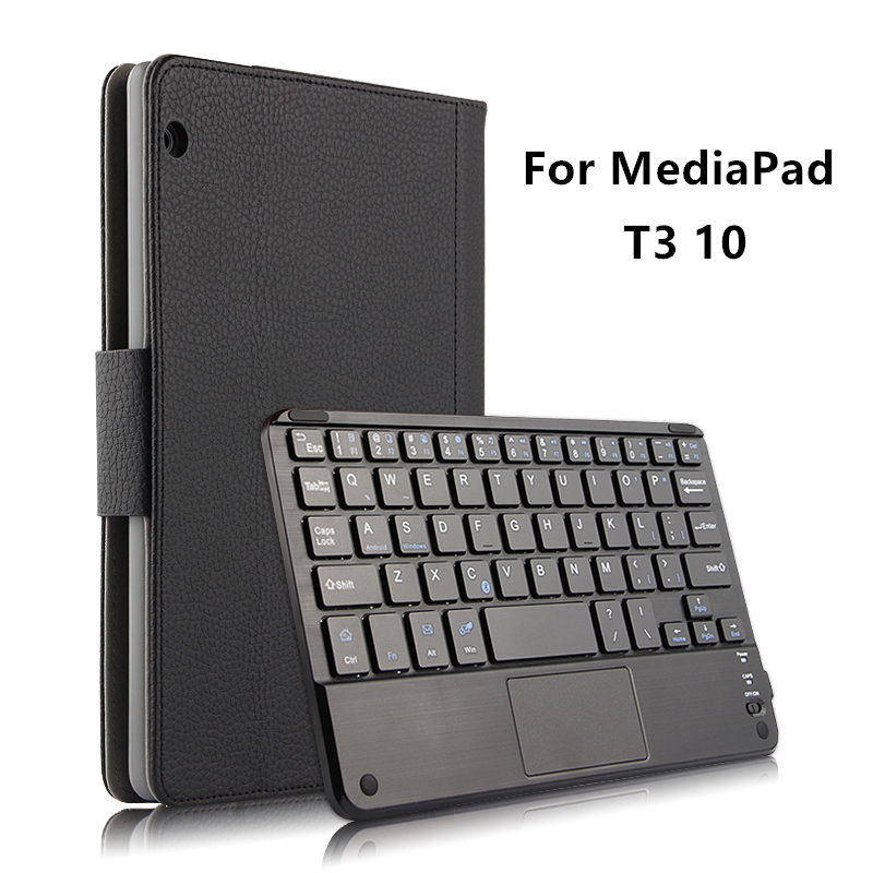 Case Bluetooth Keyboard holster For Huawei MediaPad T3 10 Protective Cover Leather Tablet AGS-L09 AGS-L03 W09 T310 PU Protector ultra slim pu leather case w wireless bluetooth keyboard for huawei mediapad m2 10 0 tablet keyboard case smart folio cover