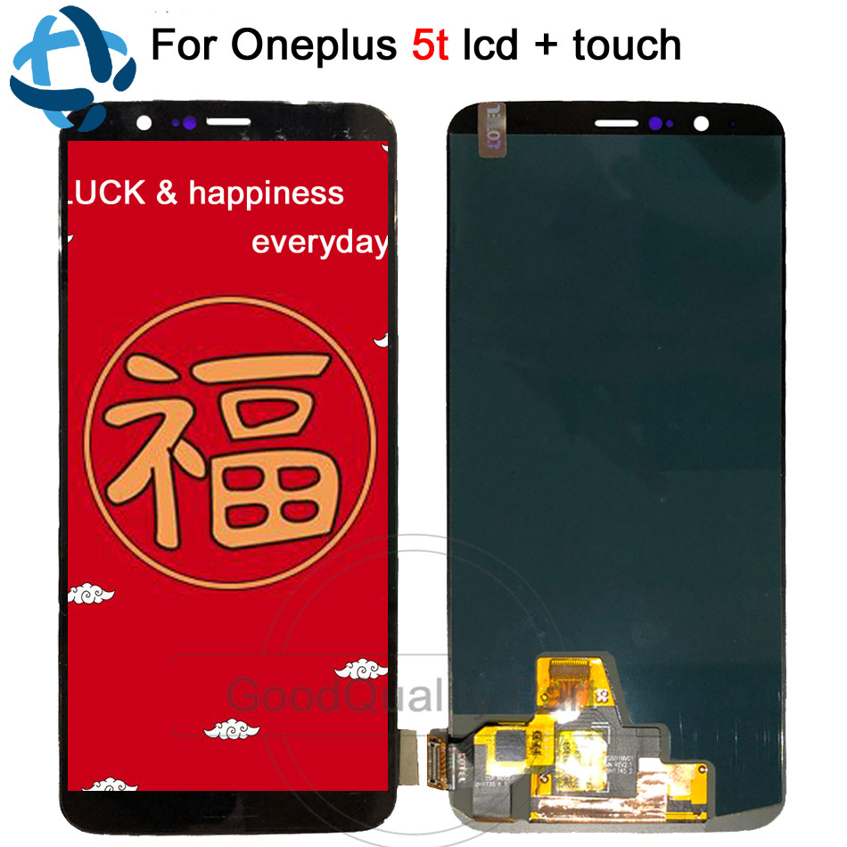 Oneplus 5T LCD Display Touch Screen Panel Digitizer Assembly A5010 LCD Screen 6.01for Oneplus 5T Mobile Phone ReplacementOneplus 5T LCD Display Touch Screen Panel Digitizer Assembly A5010 LCD Screen 6.01for Oneplus 5T Mobile Phone Replacement