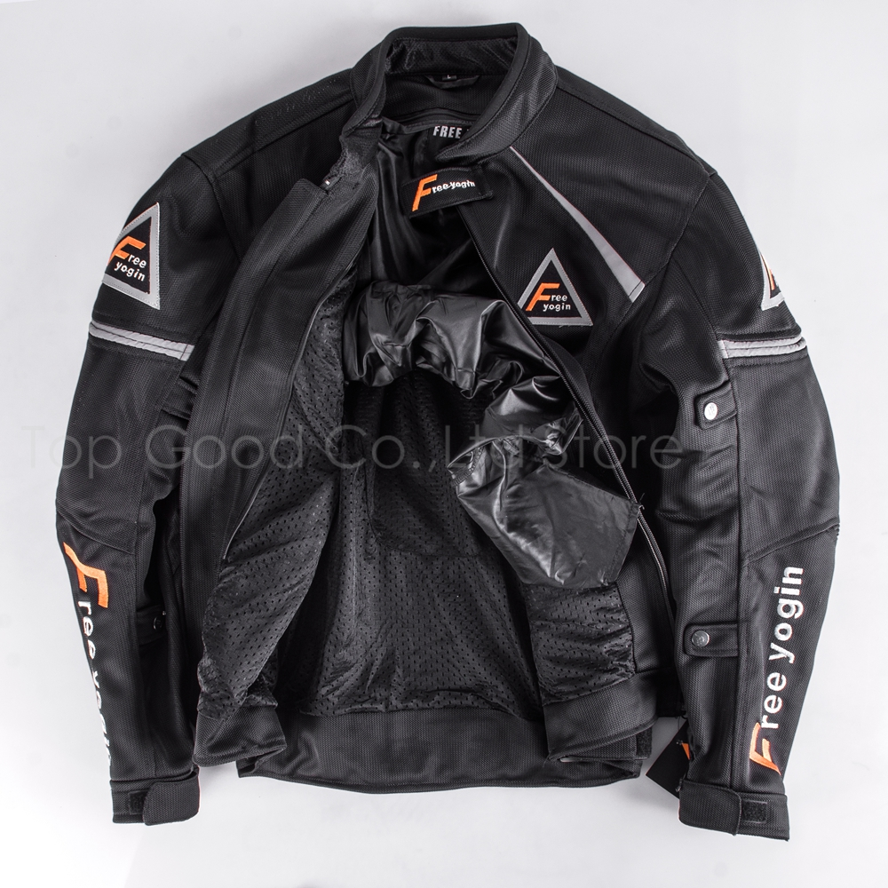 Top Good Motorcycles Jacket Summer Wear Breathable Mesh Fabric Hard Protective Overalls Motorcycle Clothing NJ WY409