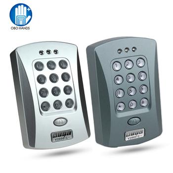 Samodzielny RFID kontroli dostępu 125 KHz EM ID czytnik kart inteligentnych z klawiatura cyfrowa blokada hasłem keyless blokada do mieszkania 1000 użytkowników tanie i dobre opinie V2000-C+ OBO RĘCE Autonomiczny kontroler dostępu RFID 1000 karty użytkownika DC12V 100mA 125KHz -10 do + 70 stopni