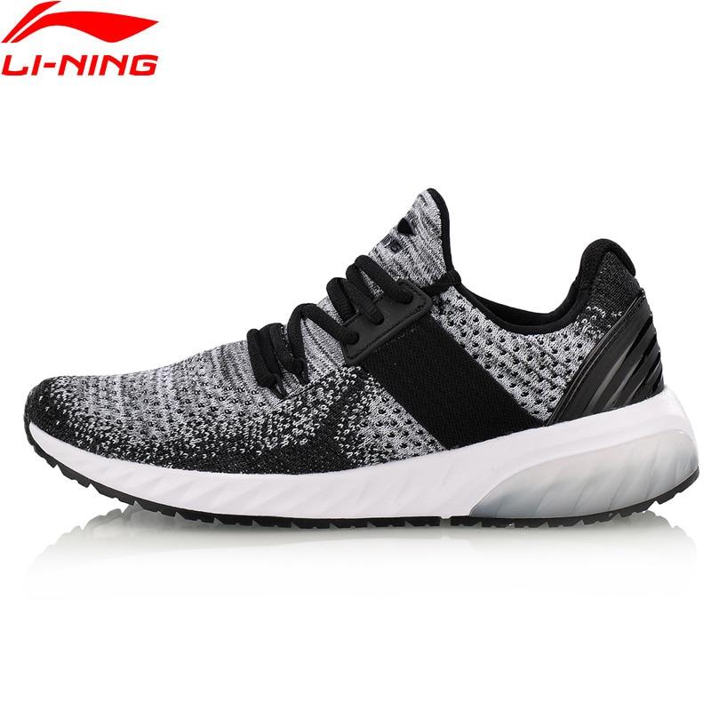 Li Ning Women GEL KNIT Classic Lifestyle Shoes Wearable Anti Slippery Sneakers Mono Yarn LiNing Sport