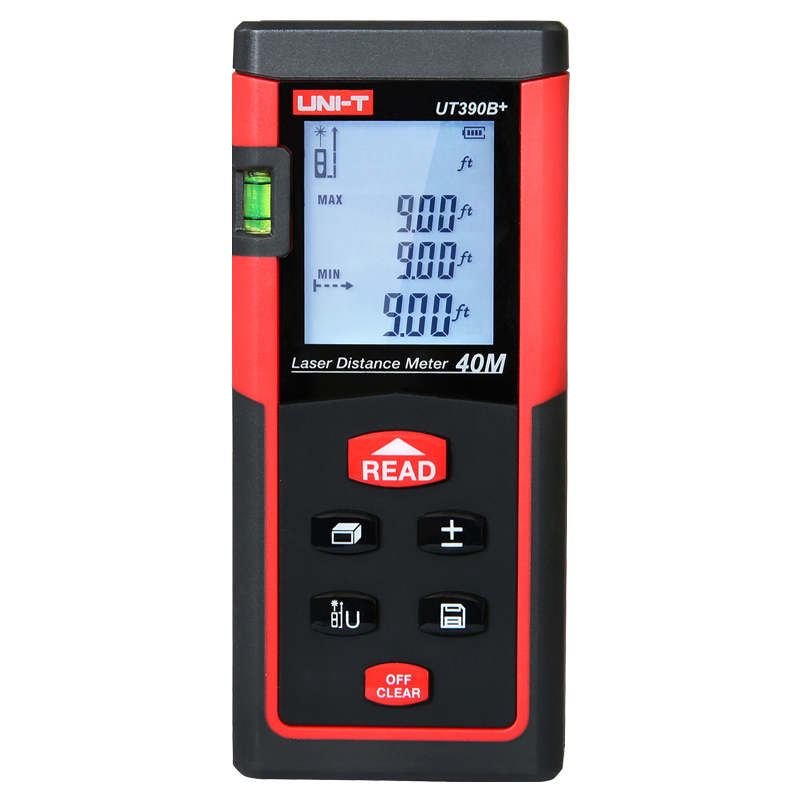 UNI-T Digital Laser Meter 40M 60M Bubble Level Rangefinder Tape Measure Area/Volume Distance Meter Digital Laser Rangefinder