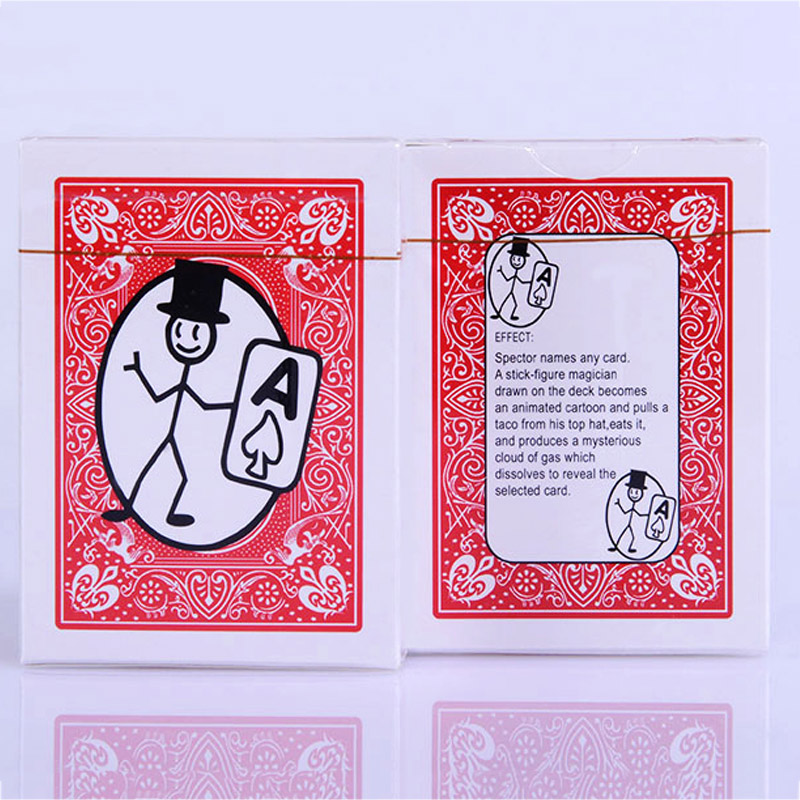 2017 Magic Playing Card Card-toon Funny Magic Trick Decks Pokers Playing Card Funny Card Animation Prediction Magic Prop Gimmick