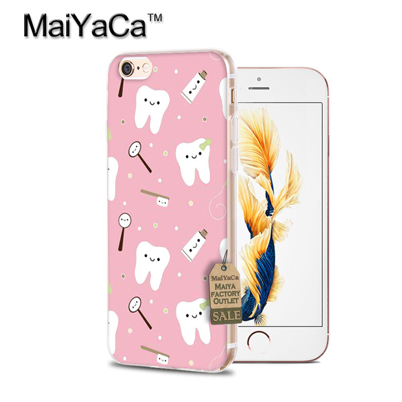 Phone Bags & Cases Interesting Cartoon Doctor Tooth Injection Case For Iphone X Xs Xr Max 5 6 7 8plus S Se Case Covered