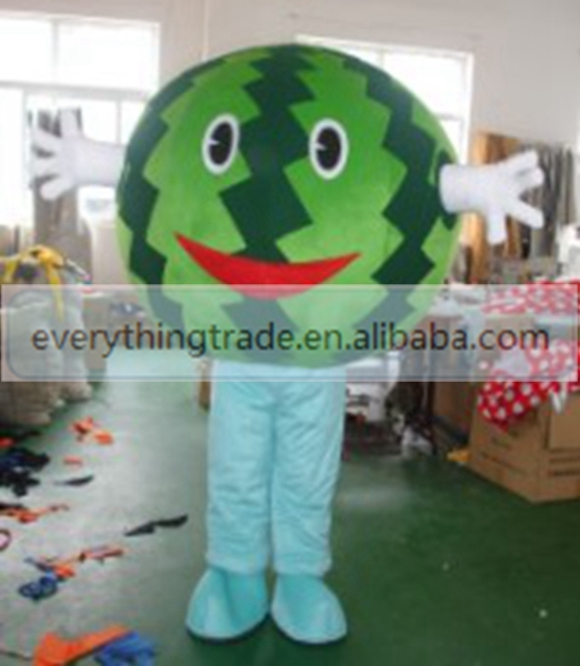 Hot sale 2017 Adult lovely watermelon mascot fancy dress costumes cartoon party costumes adult size